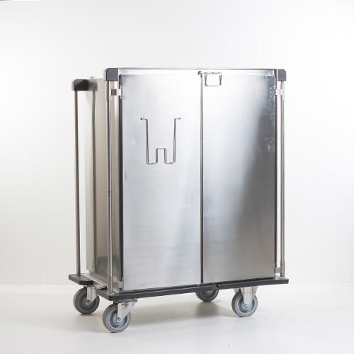 Chariots de transport fermés ISO en acier inoxydable